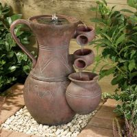 Smart Solar Pitcher Cascade Terracotta Water Feature
