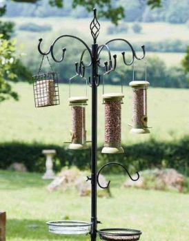 ChapelWood Complete Wild Bird Dining Station - Black 2.04m High