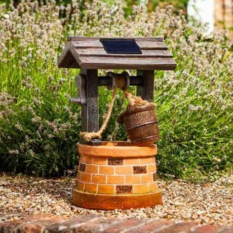Smart Solar Wishing Well Solar Water Fountain Feature