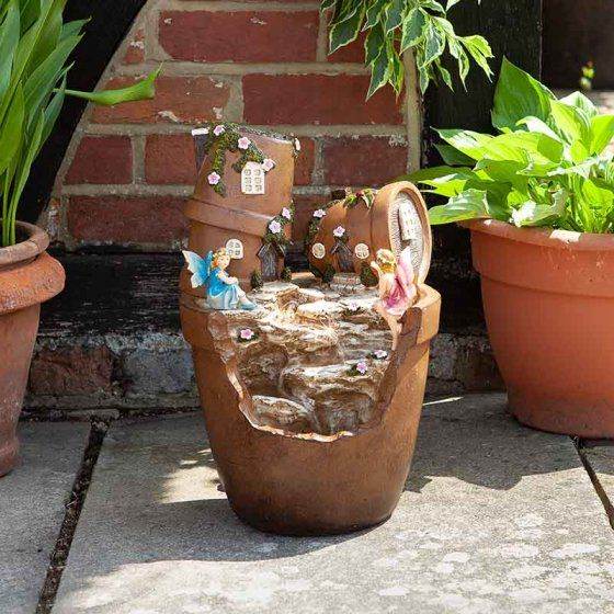 Smart Solar Fairy Pots Fountain Water Feature