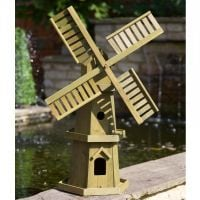 Smart Garden Giant Wooden Garden Windmill Ornament - 55cm High