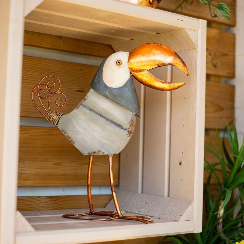 La Hacienda Copper Toucan Steel Garden Animal Ornament