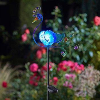 Smart Solar Peacock Decor Stake Light