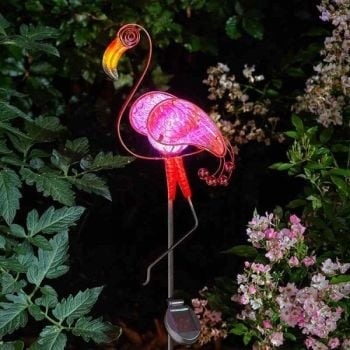 Smart Solar Flamingo Decor Stake Light