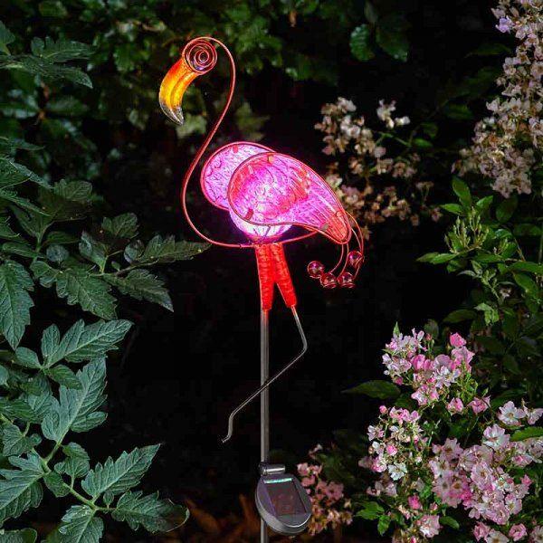 Smart Solar Flamingo Decor Stake Light
