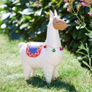 Smart Garden Llama Rama Garden Animal Ornament White