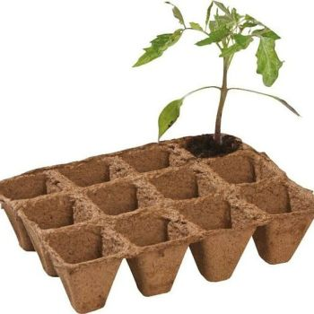 Garland 5cm Square Fibre Pots Strips Biodegradable - 2 packs of 36 pots (72 pots)  W0296
