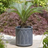 Stewart Versailles Round Planter Pewter Effect - 32cm