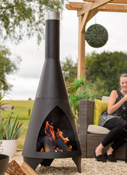 La Hacienda Chimenea Colorado Medium Steel Black