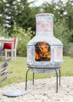 La Hacienda Clay Chimenea - Geometric Design & Grill