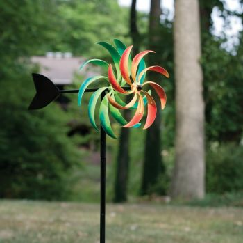 Panacea Multi-Coloured Windmill Wind Spinner Kinetic Garden Ornament