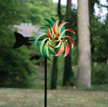 Panacea Multi-Coloured Windmill Wind Spinner Kinetic Garden Ornament