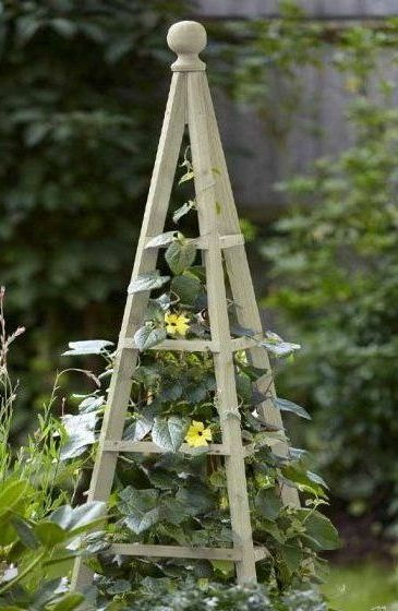 Smart Garden Wooden Obelisk Plant Support - Sage 1.9m