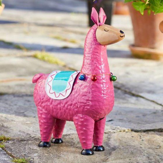 Smart Garden Llama Rama Garden Animal Ornament Pink