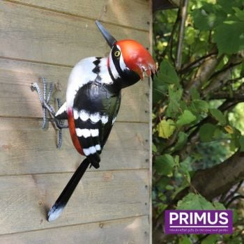 Primus Metal Woodpecker Garden Animal Bird Ornament