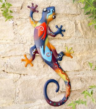 La Hacienda Aztec Lizard Metal Garden Animal Wall Art