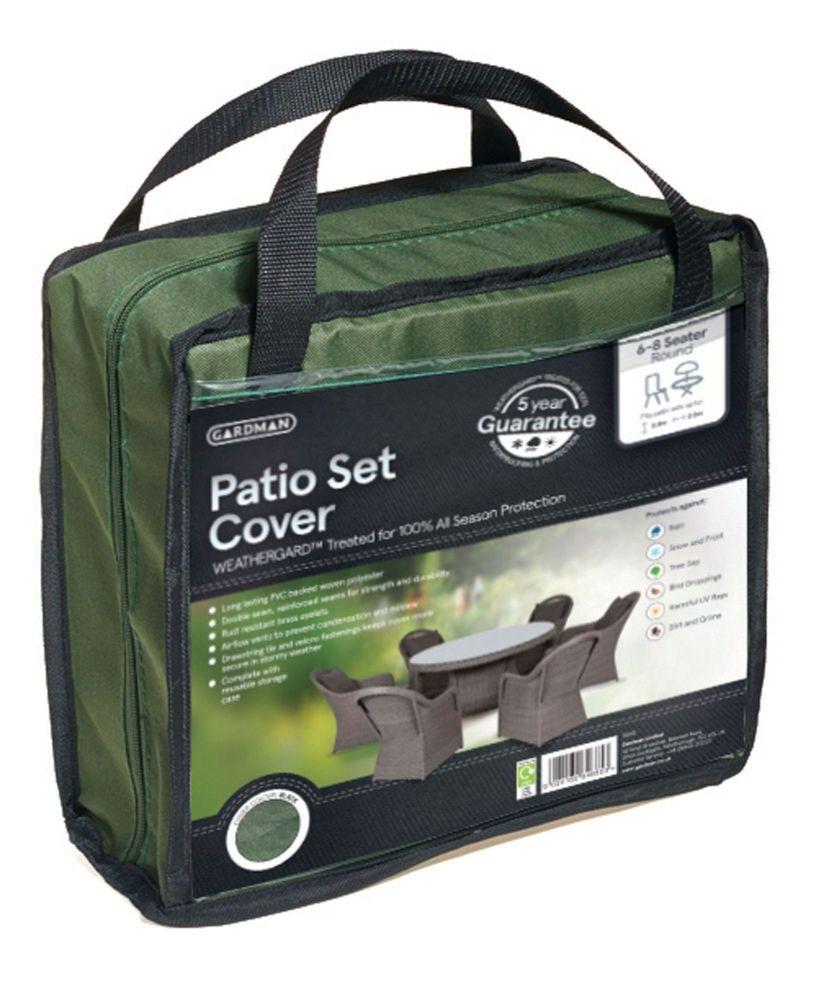Gardman Premium Large Round Polyester Patio Set Cover - Green 34310