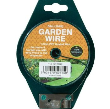 Garland 50m General Purpose Garden Wire 1.2mm PVC Coated W0585
