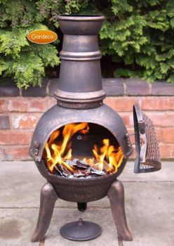 Gardeco Granada Cast Iron Chimenea - Bronze Medium