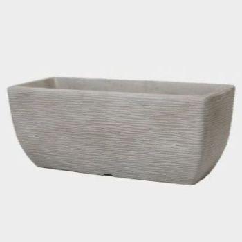 Stewart Cotswold Trough Decorative Plastic Planter - Limestone Grey 60cm