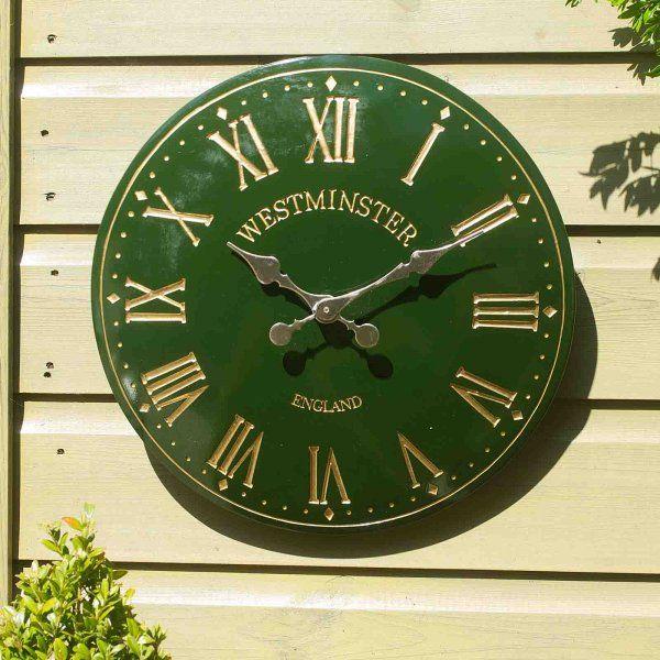 Smart Garden Westminster Garden Wall Clock - Green 15''