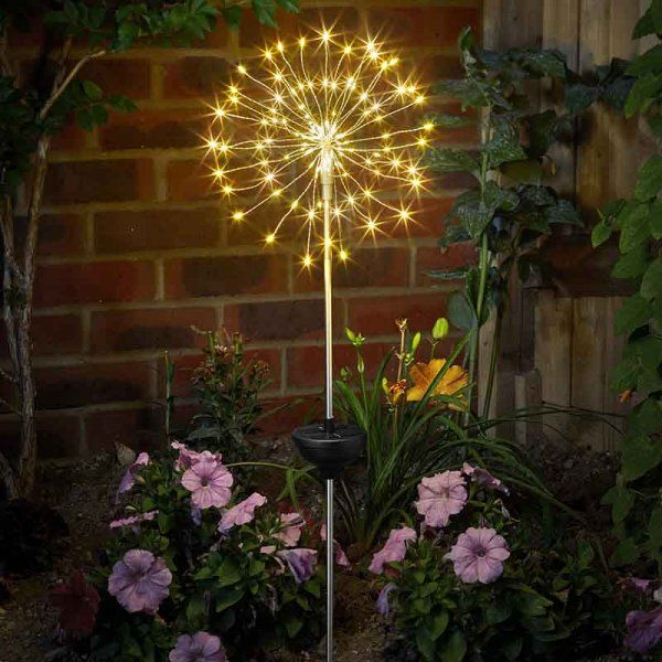 Smart Solar Starburst Decorative Stake Light