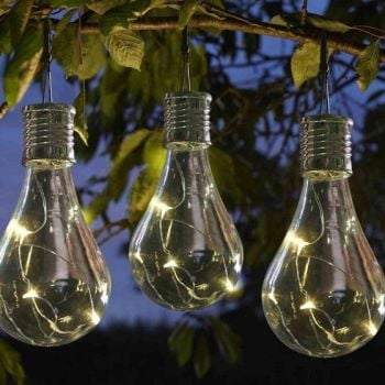Smart Solar Eureka! Lightbulbs Hanging Solar Garden Lights 6pk