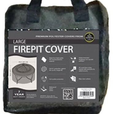 Garland Large Firepit Cover - Black Polyester W1348