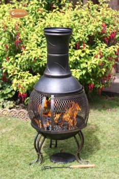 Gardeco Cordoba Open Mesh Steel Chimenea 89cm high