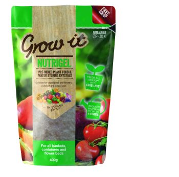 Gardman NutriGel 400g - Water Retaining Crystals & Plant Food