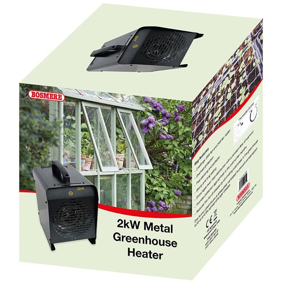 Bosmere 2kW Metal Electric Greenhouse Heater N293