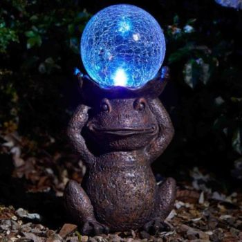 Smart Solar Gazing Frog Solar Light Garden Patio Ornament