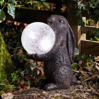 Smart Solar Hare Magic Solar Light Garden Patio Ornament