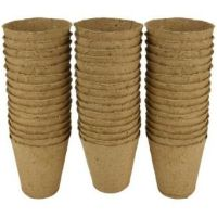 Gardman Grow it 8cm Round Fibre Pots Biodegradable x 96