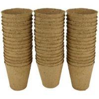 Gardman Grow it 8cm Round Fibre Pots Biodegradable x 48