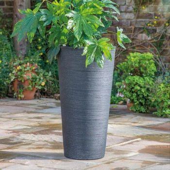 Stewart Varese Tall Decorative Plastic Planter - Granite Effect 75cm high
