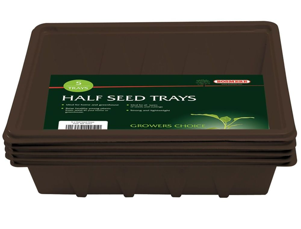 Bosmere Half-Size Seed Trays - set of 10