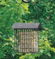 Panacea Rustic Farmhouse Galvanised Steel Suet Feeder