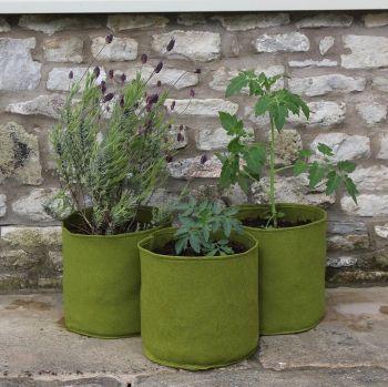 Haxnicks Vigoroot Pots 10 Litre Planter Tubs - 3 pack