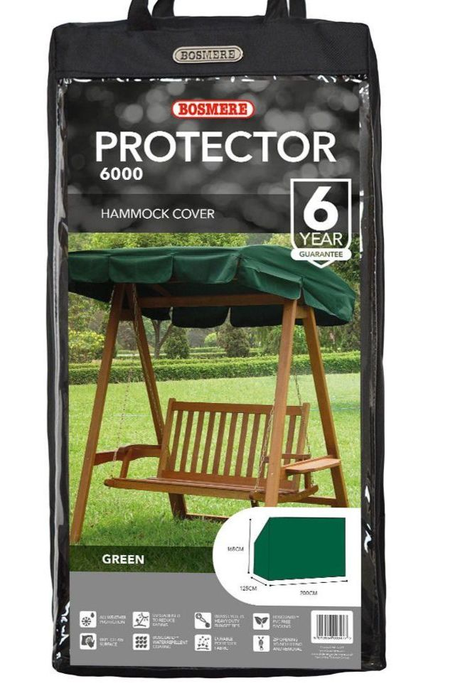 Bosmere 3 Seater Swing Seat Hammock Cover - Green Polyester C504