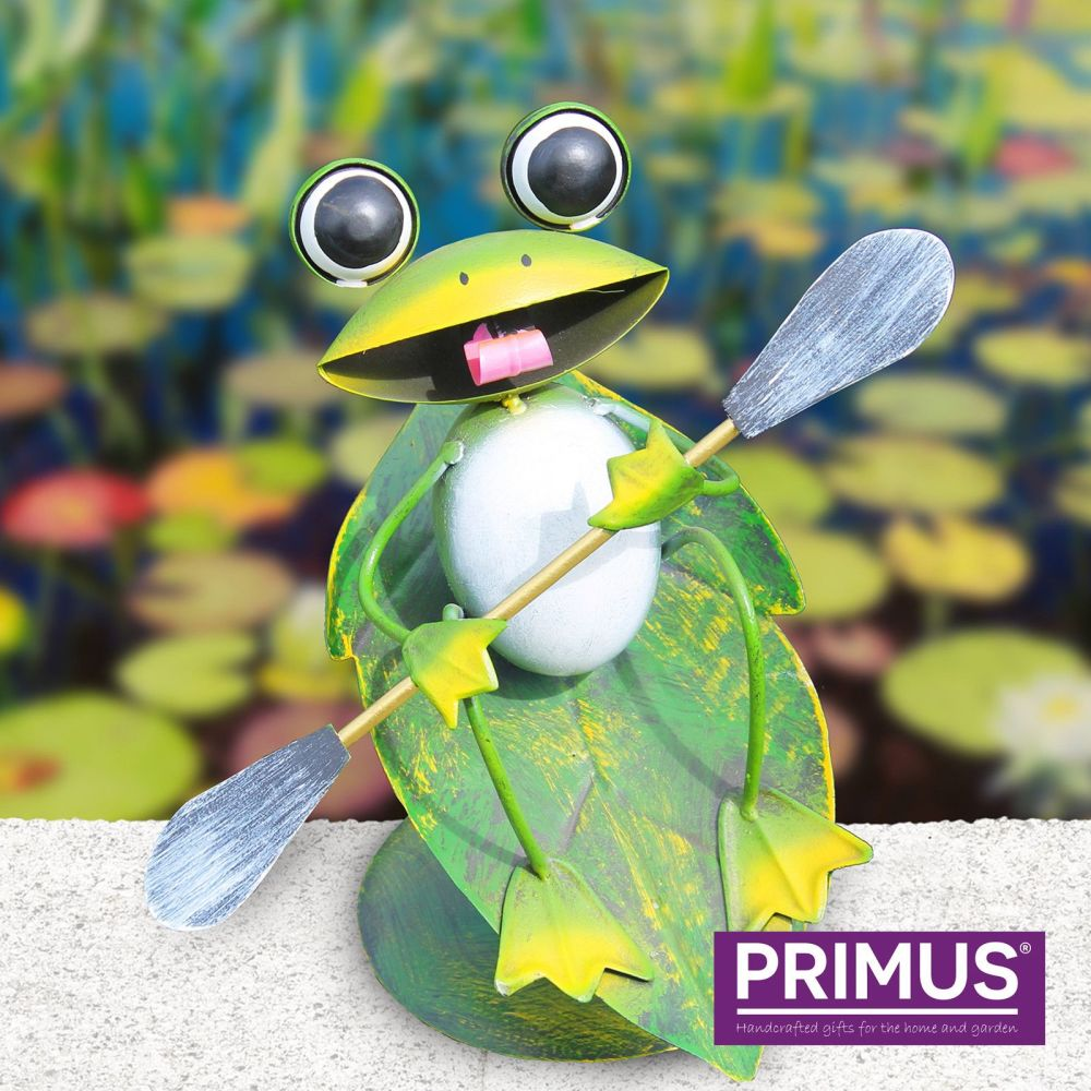 Primus Surfin' Metal Frog Garden Ornament