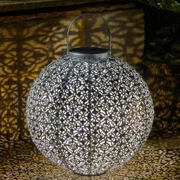 Smart Solar Jumbo Damasque Solar Lantern Garden Patio Light