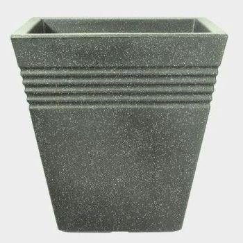 Stewart Piazza Decorative Plastic Planter - Marble Green 34cm
