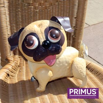 Primus Pablo the Pug Dog Metal Garden Animal Ornament - Bobble Buddies
