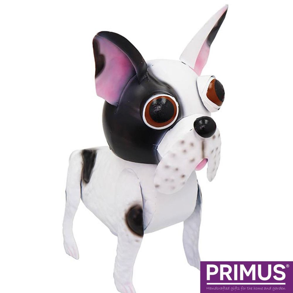 Primus Freddie the French Bull Dog Metal Animal Ornament - Bobble Buddies