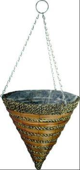 Gardman Sisal Rope & Fern Hanging Cone - 14'' / 35cm