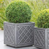 Stewart Lead Effect Decorative Plastic Planter - 38cm Square 5102031