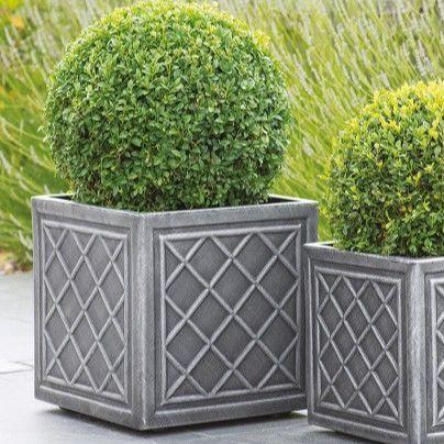 Stewart Lead Effect Decorative Plastic Planter - 38cm Square