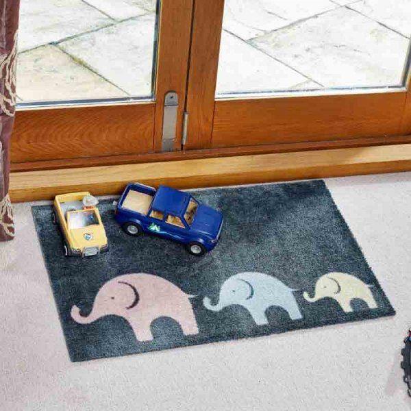 Smart Garden Jumbo Train Ritzy Rug Indoor Door Mat