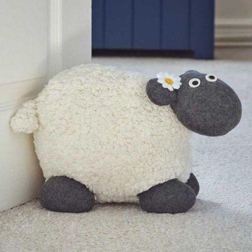 Smart Gardenn Woolly Sheep Doorstop Door Stop
